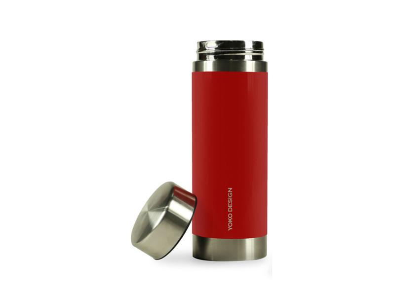 Théière stylé théière nomade isotherme 2 filtres amovibles liber'tea 350 ml - rouge et inox