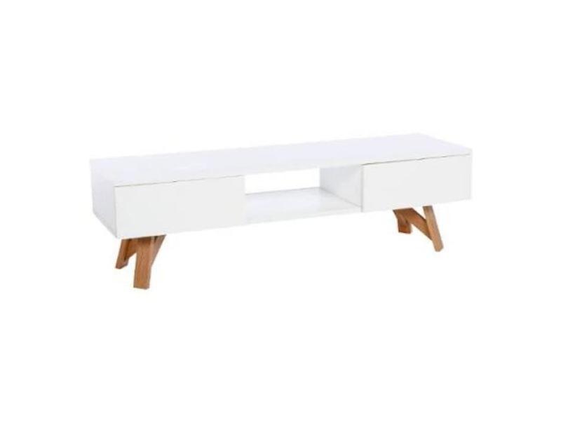 Buffet - bahut - enfilade meuble télé - blanc - l 150 x l 45 x h 45 cm