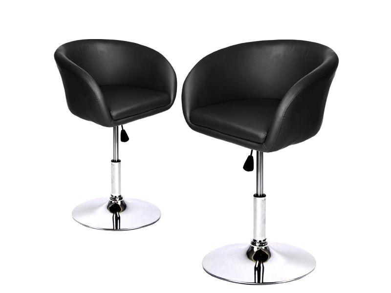 lot de fauteuils chaises sige lounge design pivotant rglable noir helloshop vente de tous les. Black Bedroom Furniture Sets. Home Design Ideas