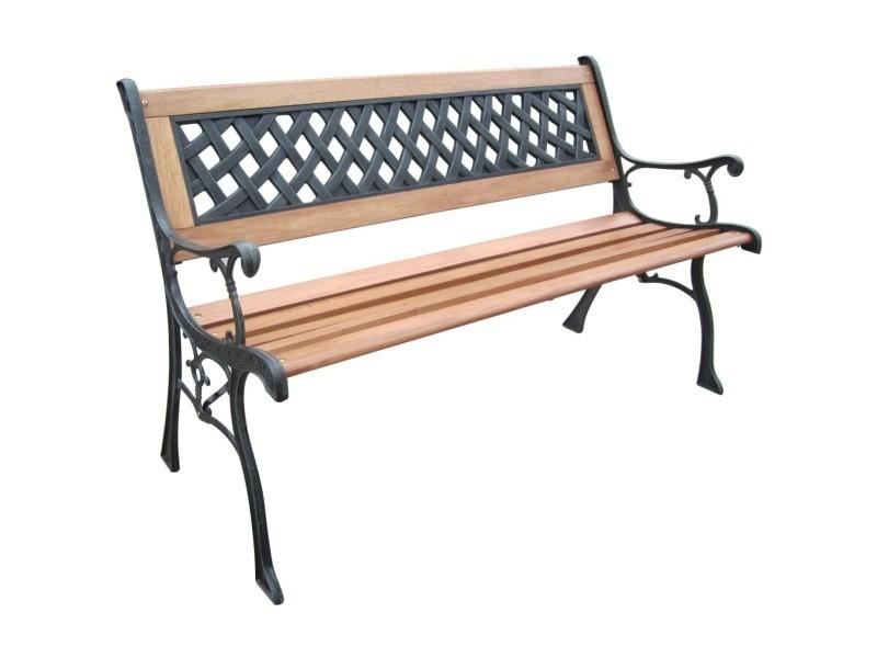 Hi banc de jardin 126 cm bois 423985