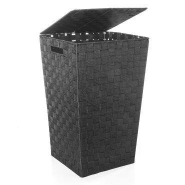 panier linge polyester tress noir vente de panier linge et corbeille conforama