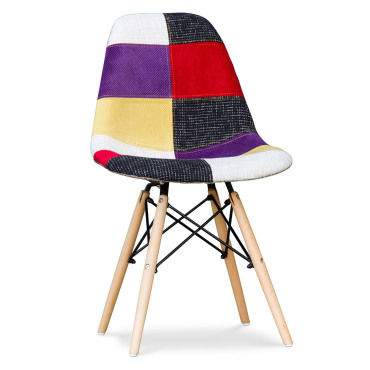Chaise Daw Patchwork Charles Eames Multicolore