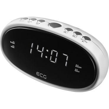 Ecg rb 010 radio réveil fm blanc 230v + pile en cas de
