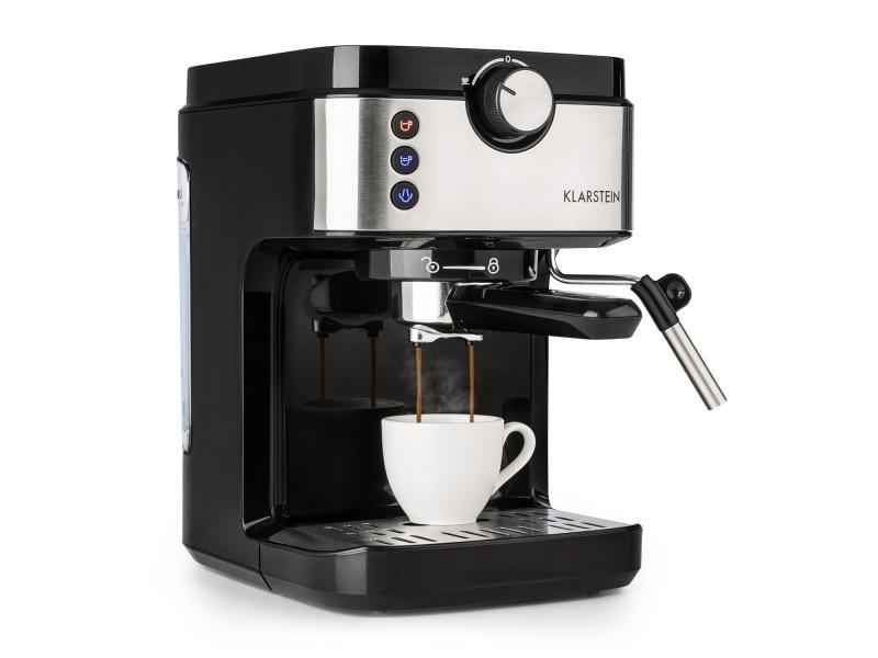 Klarstein bellavita espresso cafetière machine à expresso 20 bars - réservoir 900 ml - 1575w - argent