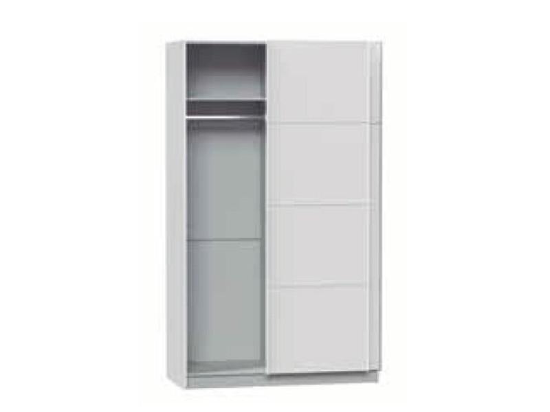 Armoire avec 2 portes coulissantes coloris blanc dim for Armario de 4 puertas correderas conforama