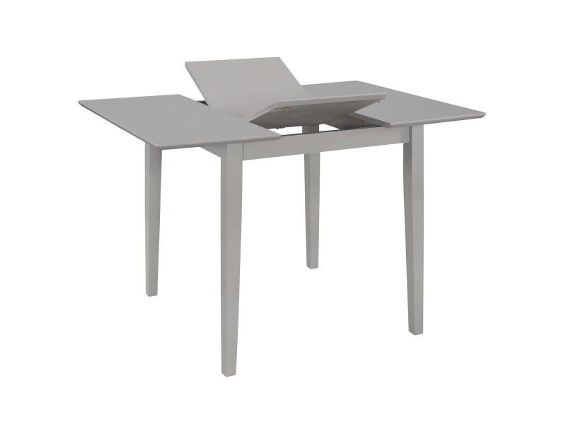 Icaverne - tables à manger gamme table à dîner extensible gris (80-120) x 80 x 74 cm mdf