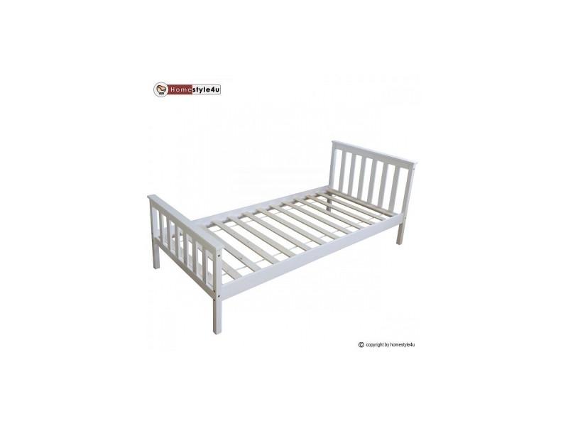 lit simple blanc 90x200 avec pied de lit 1416 vente de lit enfant conforama. Black Bedroom Furniture Sets. Home Design Ideas