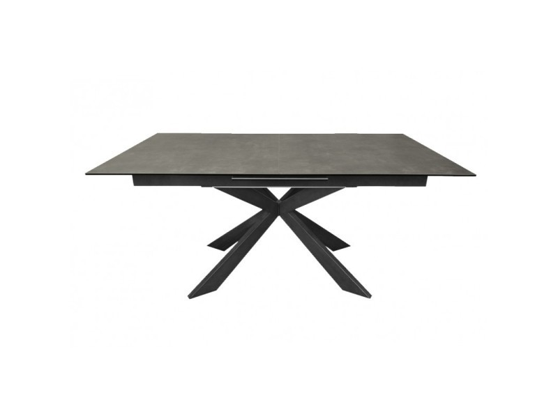 Table de repas extensible céramique gris anthracite - starlight