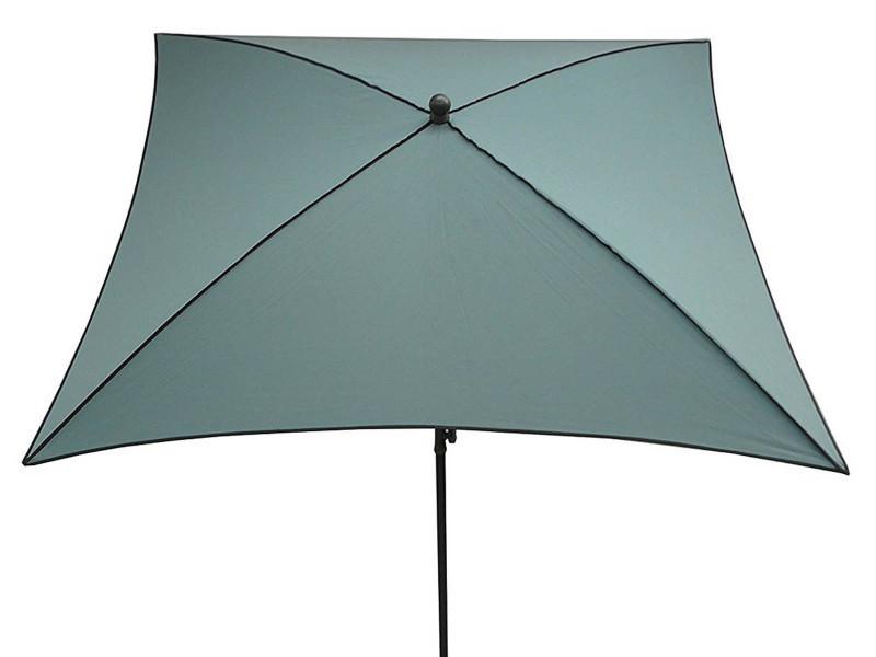 Parasol rond, tissu dralon coloris agua de mar - dim : 140/10 - d 280 cm - pegane -