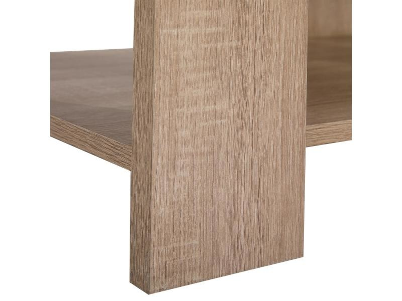 table basse de salon percy rectangulaire avec tablette m lamin d cor ch ne sonoma vente de. Black Bedroom Furniture Sets. Home Design Ideas
