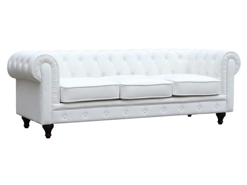 canap fixe chesterfield aliza 3 places vente de canap droit conforama. Black Bedroom Furniture Sets. Home Design Ideas