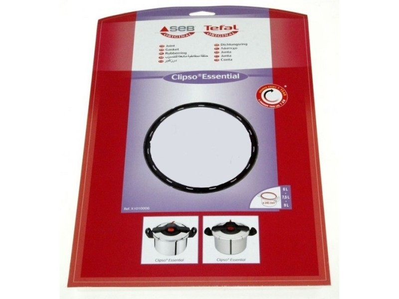 Joint 6/7,5l/9l inox diam 245 mm pour autocuiseur seb