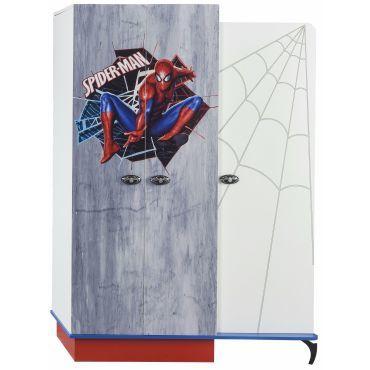 Armoire enfant à 3 portes design spiderman marvel coloris blanc ...