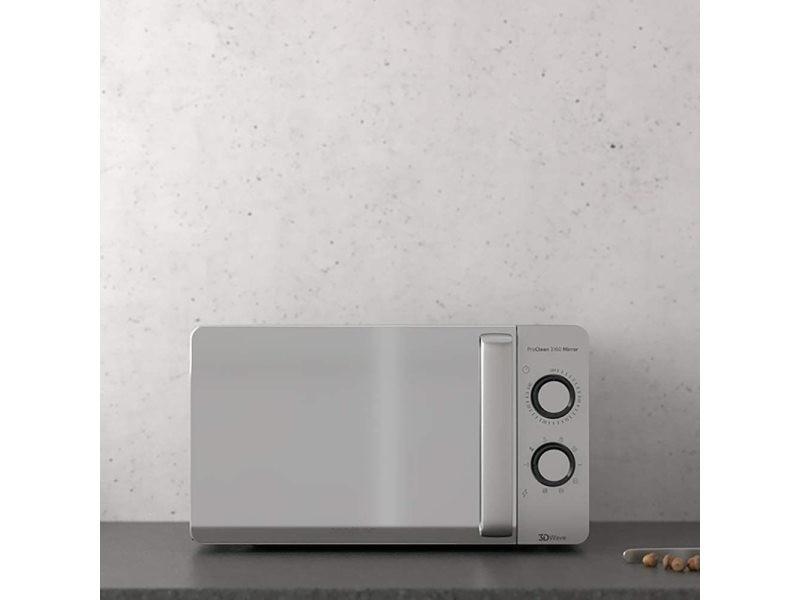 Micro-ondes de 20l avec grill et minuterie 700w gris
