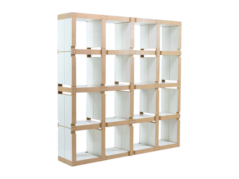 Meuble biblioth que modulable carr e vente de fabulem for Bibliotheque meuble conforama
