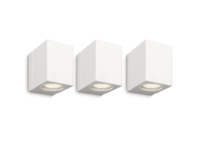 Pack de luminaire philips applique murale cubique ecomoods