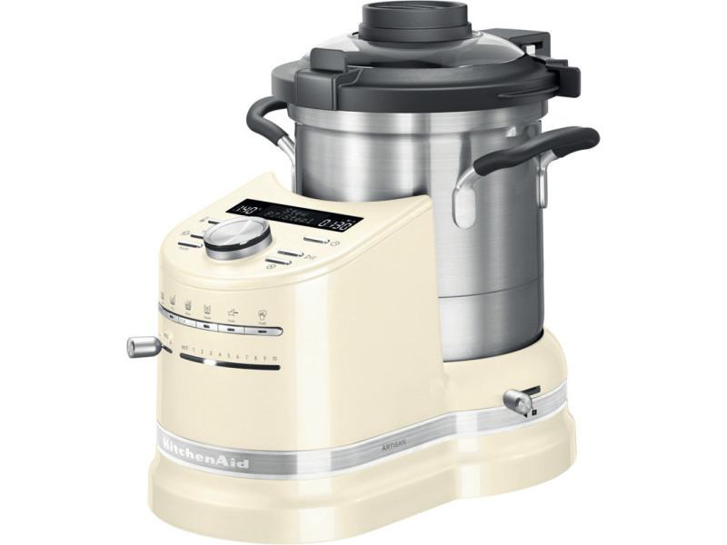 Robot cuiseur tout en un de 4,5l 1500w crème argent