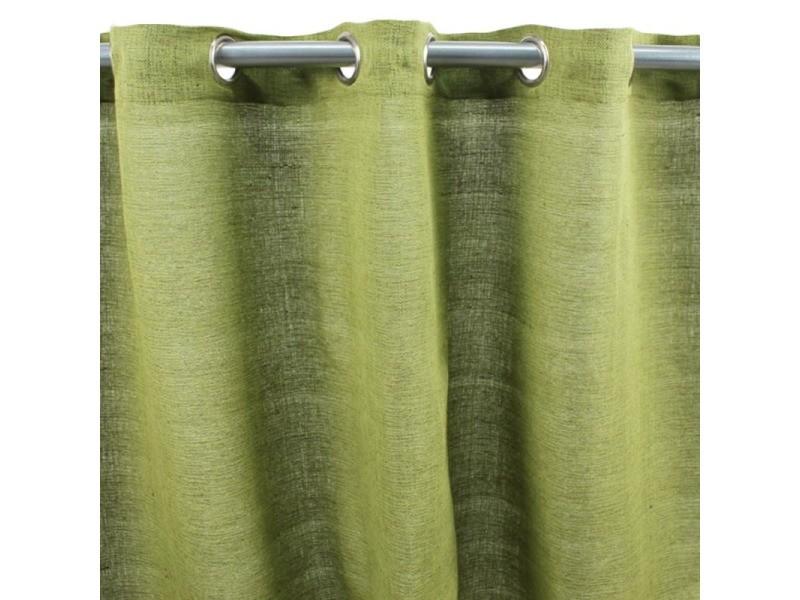 Cameleon - rideau 100% coton vert mousse 150x250
