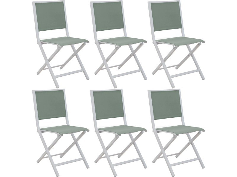 Chaises pliantes en aluminium ida (lot de 6)