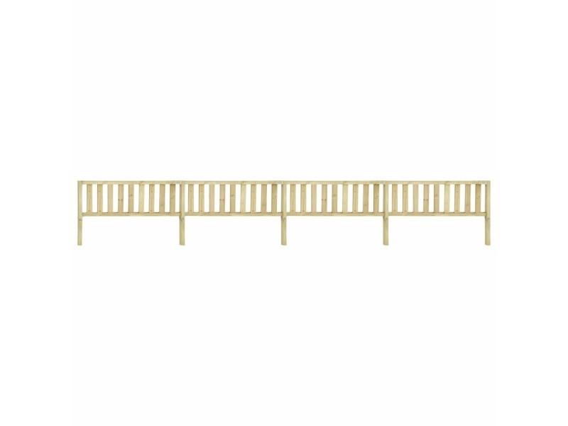 Esthetique clôtures et barrières categorie athènes clôture de jardin bois de pin imprégné 7,1x1,1 m