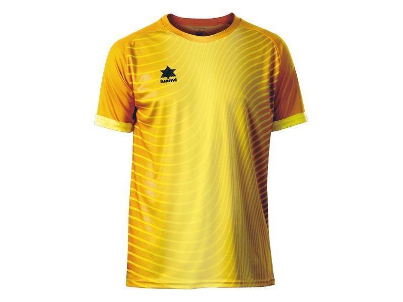T-shirt de sport stylé taille xxl t shirt à manches courtes luanvi rio jaune
