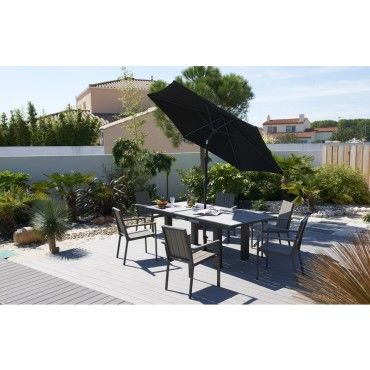 Parasol droit inclinable