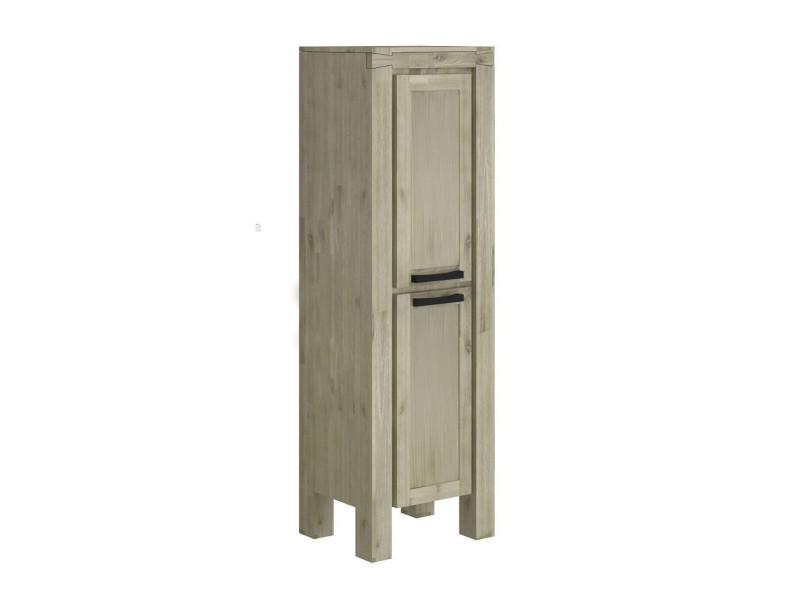 Colonne salle de bain en bois massif - 50 cm - markle ...
