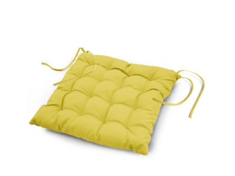 Coussin de chaise assise matelass 40 x 40 cm vert anis vente de housse et galette de chaise - Housse de chaise vert anis ...