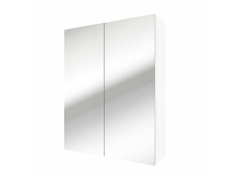 Armoire de toilette avec miroir 60 x 77 x 17,2 cm (lxhxp)