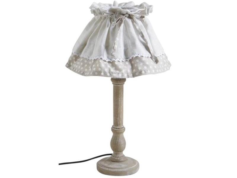 Lampe bois et metal tradition