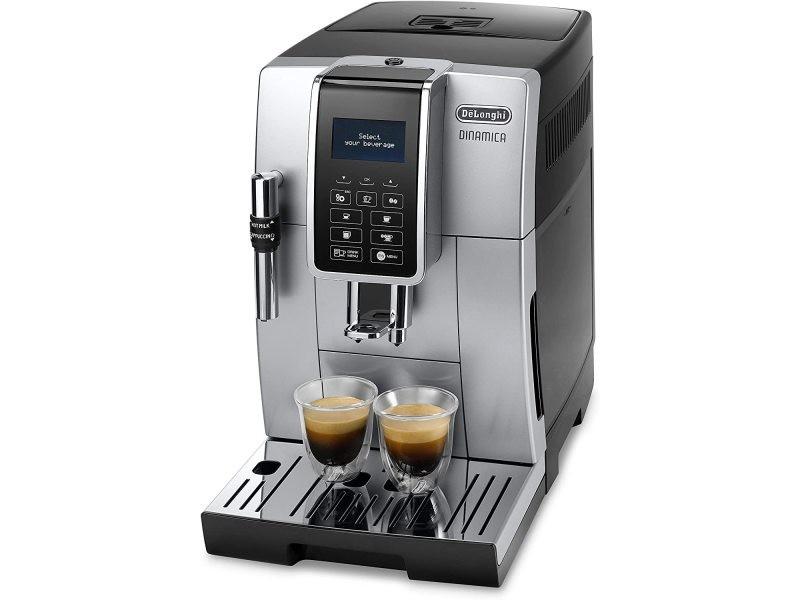 Machine expresso de 1,8l avec broyeur intégré et écran 1450w argent noir