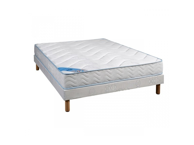 ensemble matelas mousse someo m30 sommier pieds 100x190. Black Bedroom Furniture Sets. Home Design Ideas