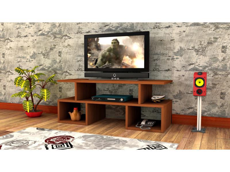 Meuble tv design twist1 motif bois noyer marron clair