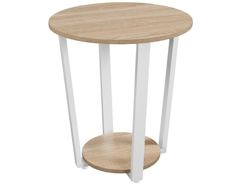 Yaheetech table de chevet rond en bois tables de nuit chêne clair