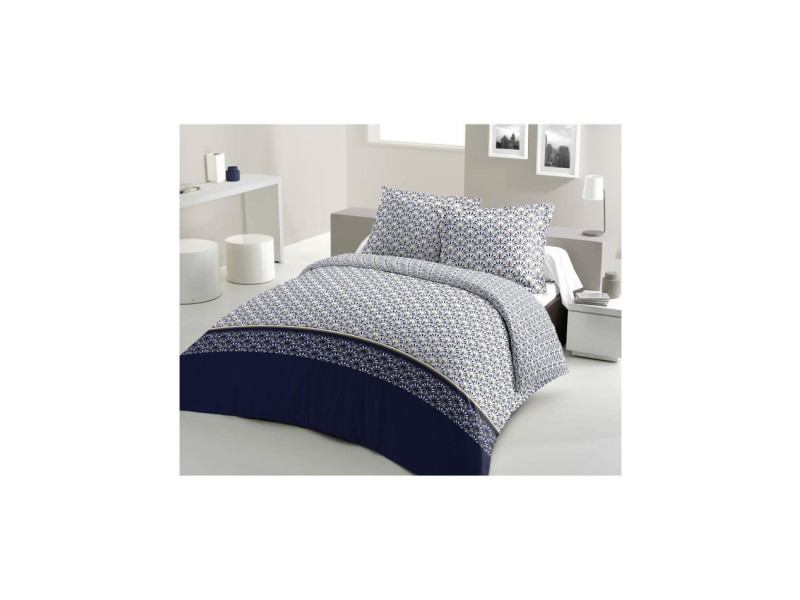 Parure de couette coton rainbow - bleu marine - 200x200 cm LOV5037632622053