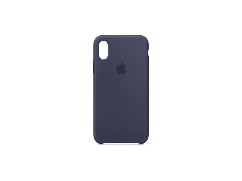 coque iphone xs silicone bleu nuit
