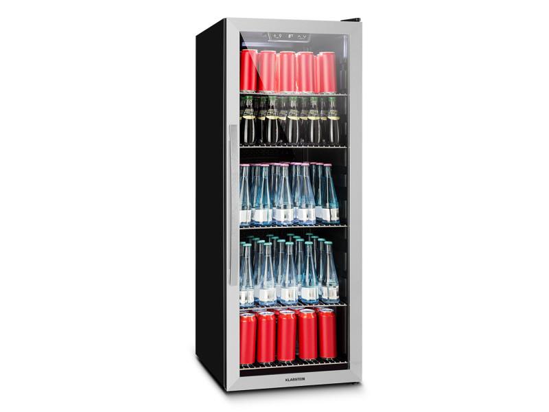 Klarstein beersafe 5xl réfrigérateur à boissons 201l classe a - verre & inox