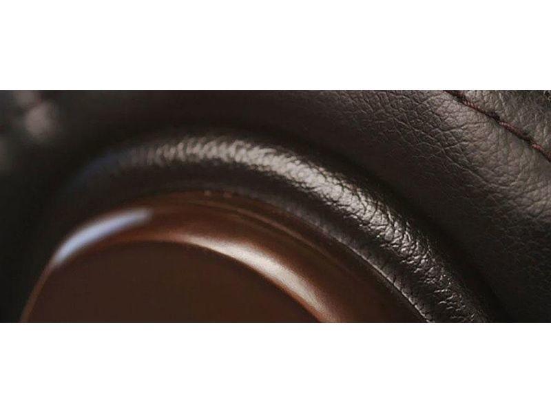 Fauteuil de bureau direction en cuir noir monalisa cuir de vache