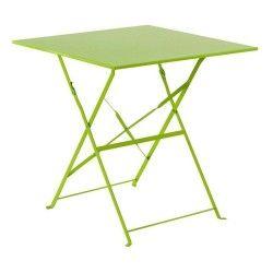 Table de jardin pliante camarque - 70 x 70 cm - vert
