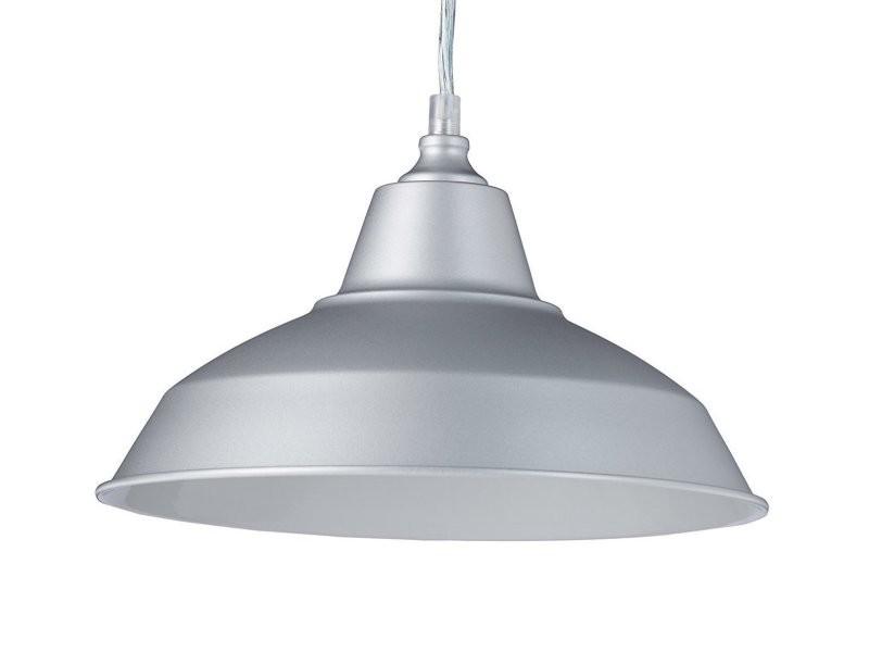 Lampe à Suspension Lustre Lampadaire Luminaire Cuisine Salon Salle De Bain  Gris Diamètre 28 Cm Helloshop26 2413003