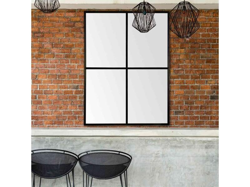 c2e6111a08bcdc Miroir fenêtre noir 90x120 - Vente de EMDE PREMIUM - Conforama