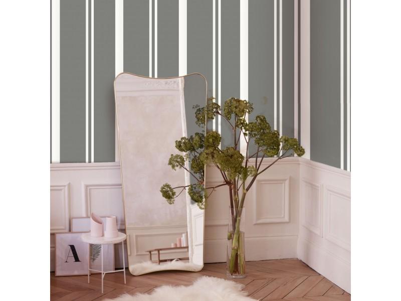 Papier peint intissé simplicity rayures grainé 1005 x 52cm gris, blanc 104098