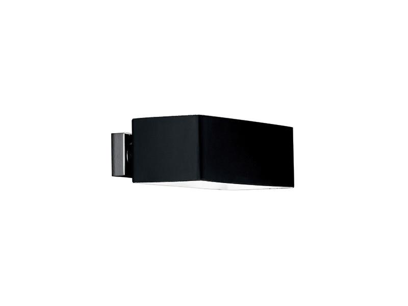 Applique murale box noire en métal