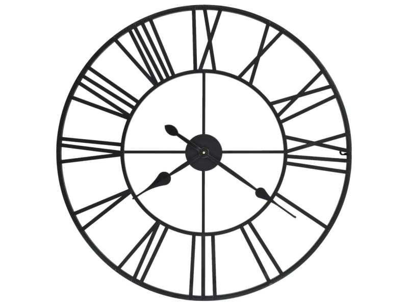 Splendide horloges collection san salvador horloge murale vintage avec mouvement à quartz métal 80 cm xxl