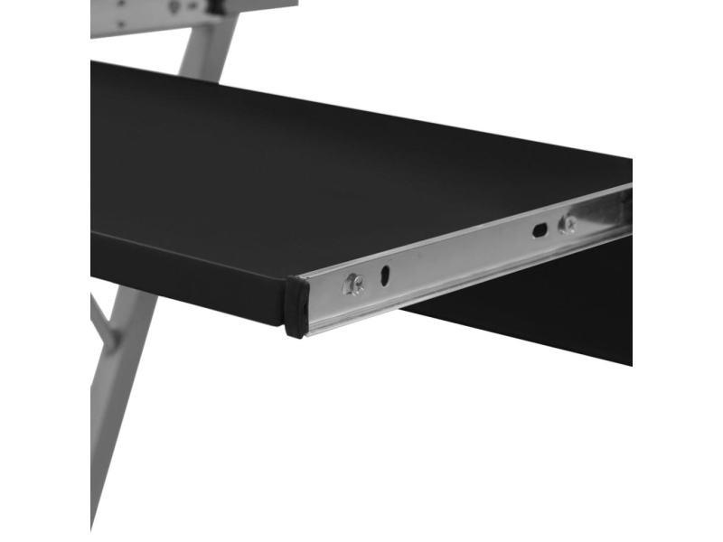 Vidaxl table de bureau noire pour ordinateur 20051 vente de vidaxl