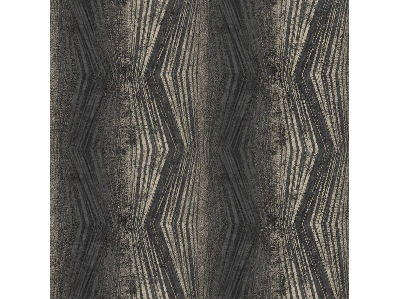 Papier peint intissé vermeil rayures métallique 1005 x 52cm charbon 104153