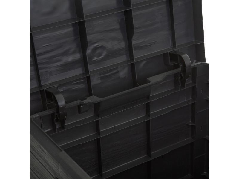JJA Le Depot BAILLEUL Coffre de Rangement 90 litres Gris