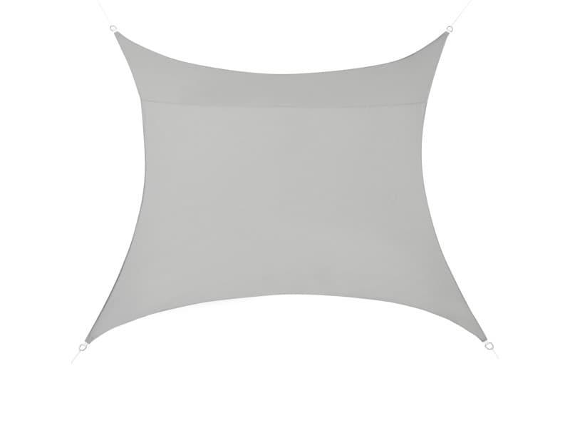 [en.casa] voile d'ombrage toile d'ombrage toile de protection polyester polyuréthane quadratique gris clair 5x5 m