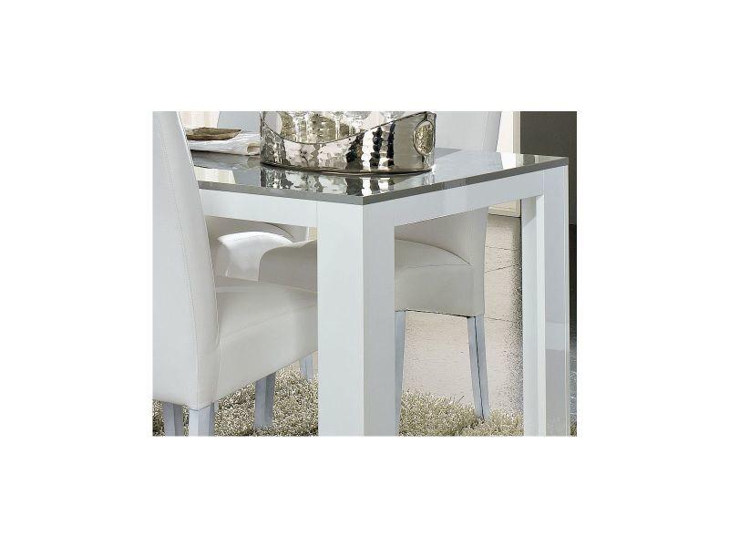 Table salle à manger 190cm blanc et gris laqué p-6836-co pisto grey ...