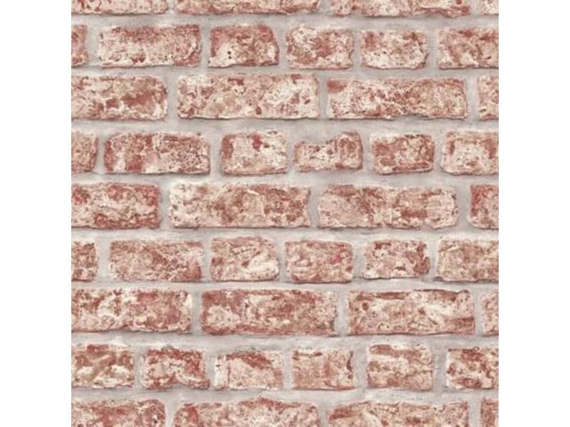 Topchic papier peint briques rouge et gris 425285